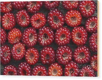 Japanese Wineberry Pattern Wood Print by Tim Gainey