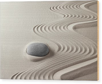Japanese Zen Garden 21x30 Wood Print