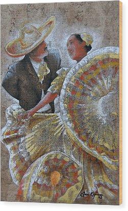 Jarabe Tapatio Dance Wood Print by J- J- Espinoza