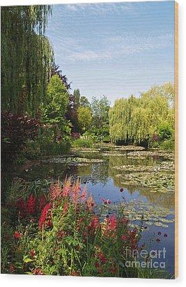 Jardin D'eau Wood Print by Alex Cassels