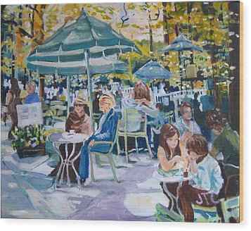Wood Print featuring the painting Jardin Du Luxembourg by Julie Todd-Cundiff