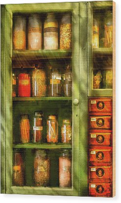 Jars - Ingredients II Wood Print by Mike Savad