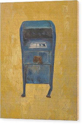 Jaunty Mailbox Wood Print by Lindsay Frost