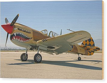 Jaws Wood Print