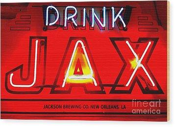 Jax Beer Of New Orleans Wood Print by Saundra Myles
