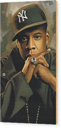 Jay-z Artwork 2 Wood Print by Sheraz A