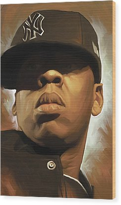 Jay-z Artwork Wood Print by Sheraz A