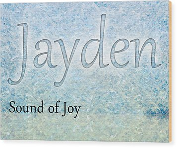 Jayden - Sound Of Joy Wood Print by Christopher Gaston