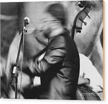 Jazz 7 Wood Print by David Gilbert