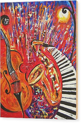 Jazz And The City 2 Wood Print