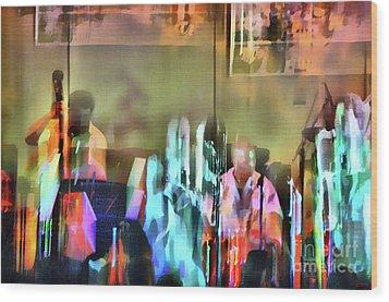 Jazz Band Wood Print by Jeff Breiman