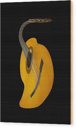 Jazz Guitar Wood Print by Debra and Dave Vanderlaan