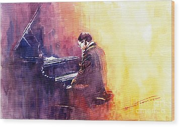 Jazz Herbie Hancock  Wood Print by Yuriy  Shevchuk