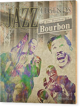 Jazz Legends Wood Print