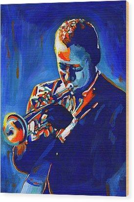 Jazz Man Miles Davis Wood Print by Vel Verrept