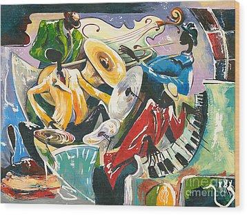 Jazz No. 3 Wood Print by Elisabeta Hermann