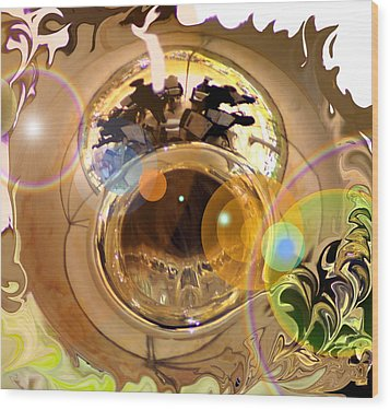 Jazz Reflections Wood Print