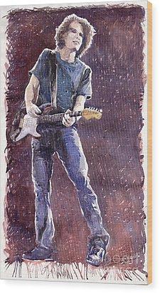 Jazz Rock John Mayer 01 Wood Print by Yuriy  Shevchuk