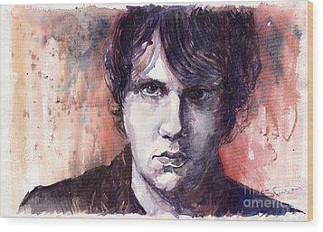 Jazz Rock John Mayer Wood Print by Yuriy  Shevchuk