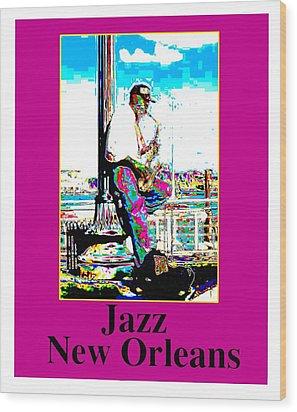 Jazz Sax Wood Print