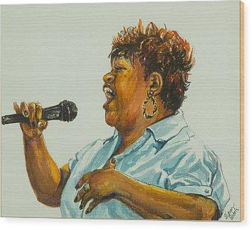 Jazz Singer Wood Print