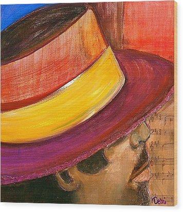 Jazzman Wood Print by Debi Starr
