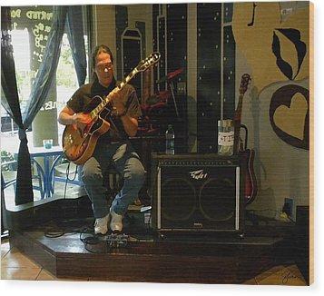 Jazzman Jorge - Limehouse Blues Wood Print by Shawn Lyte