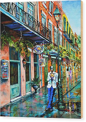 Wood Print featuring the painting Jazz'n by Dianne Parks