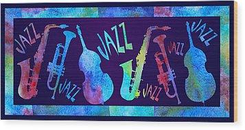 Jazzy Combo Wood Print by Jenny Armitage