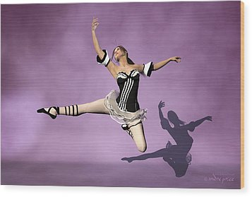 Jazzy Jete Wood Print by Andre Price