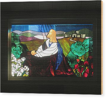 Wood Print featuring the photograph Jc In Prayer by Marie Neder