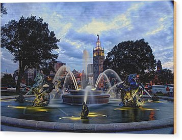 J. C. Nichols Fountain Wood Print