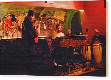 Jc Stylles At Mintons Playhouse Harlem Usa Wood Print by Steve Archbold