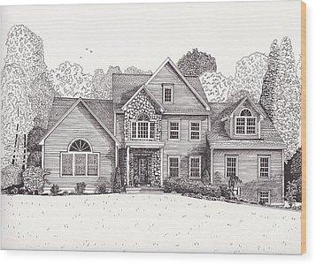 Jean And John's House  Wood Print