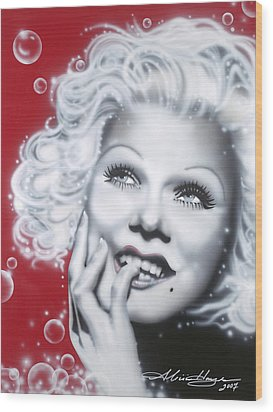Jean Harlow Wood Print by Alicia Hayes