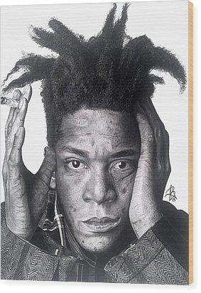 Jean-michel Basquiat Drawing Wood Print