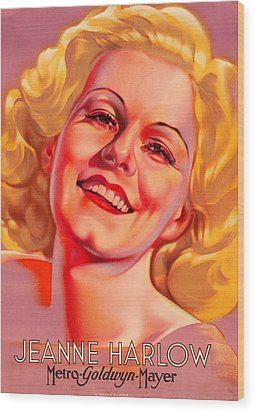 Wood Print featuring the photograph Jeanne Harlow by Allen Beilschmidt