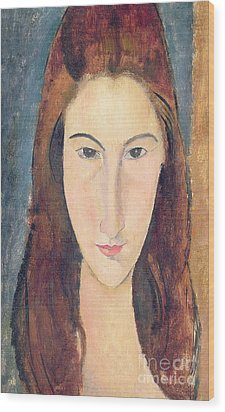 Jeanne Hebuterne Wood Print by Amedeo Modigliani