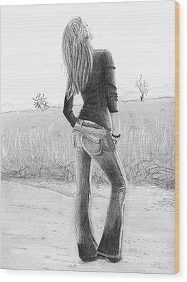 Jeans Wood Print by Denise Deiloh