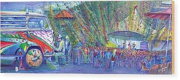 Jeff Austin Band And Bukaty In Keystone Wood Print by David Sockrider