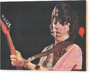 Jeff Beck Wood Print