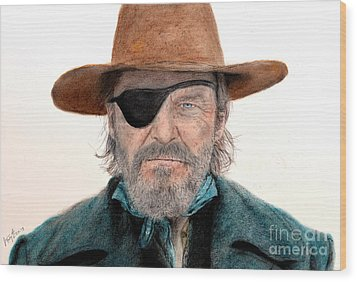 Jeff Bridges As U.s. Marshal Rooster Cogburn In True Grit  Wood Print