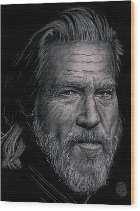 Jeff Bridges Wood Print by Ryan Jacobson