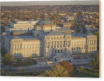 Jefferson Building Wood Print