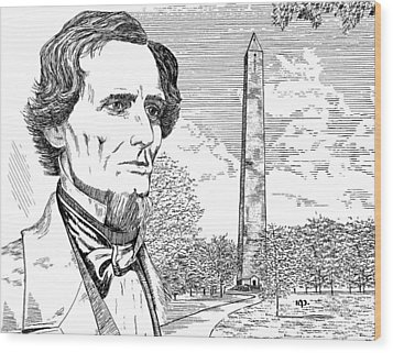 Jefferson Davis Monument Wood Print by Robert Powell