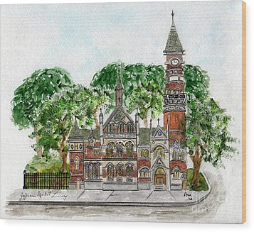 Jefferson Market Library Wood Print