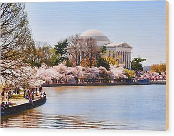 Jefferson Memorial Washington Dc Wood Print by Vizual Studio