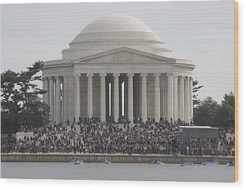 Jefferson Memorial - Washington Dc - 01134 Wood Print by DC Photographer