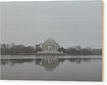 Jefferson Memorial - Washington Dc - 01136 Wood Print by DC Photographer