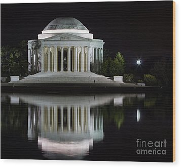 Jefferson Reflections Wood Print